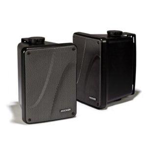 Kicker KB6000 Weather-Resistant Full-Range Speakers Enclosure (Black)