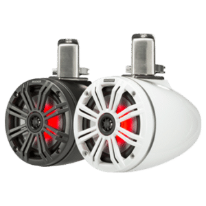 Kicker KMTC8 (200mm) Loaded Marine Cans with 45KM84L Speakers pair Charcoal or White