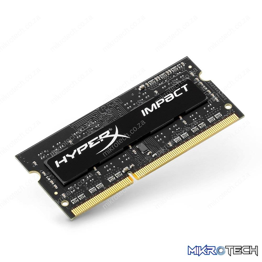 Kingston Hyper-X Impact Black 4GB DDR3L 1600 CL9 Notebook Memory