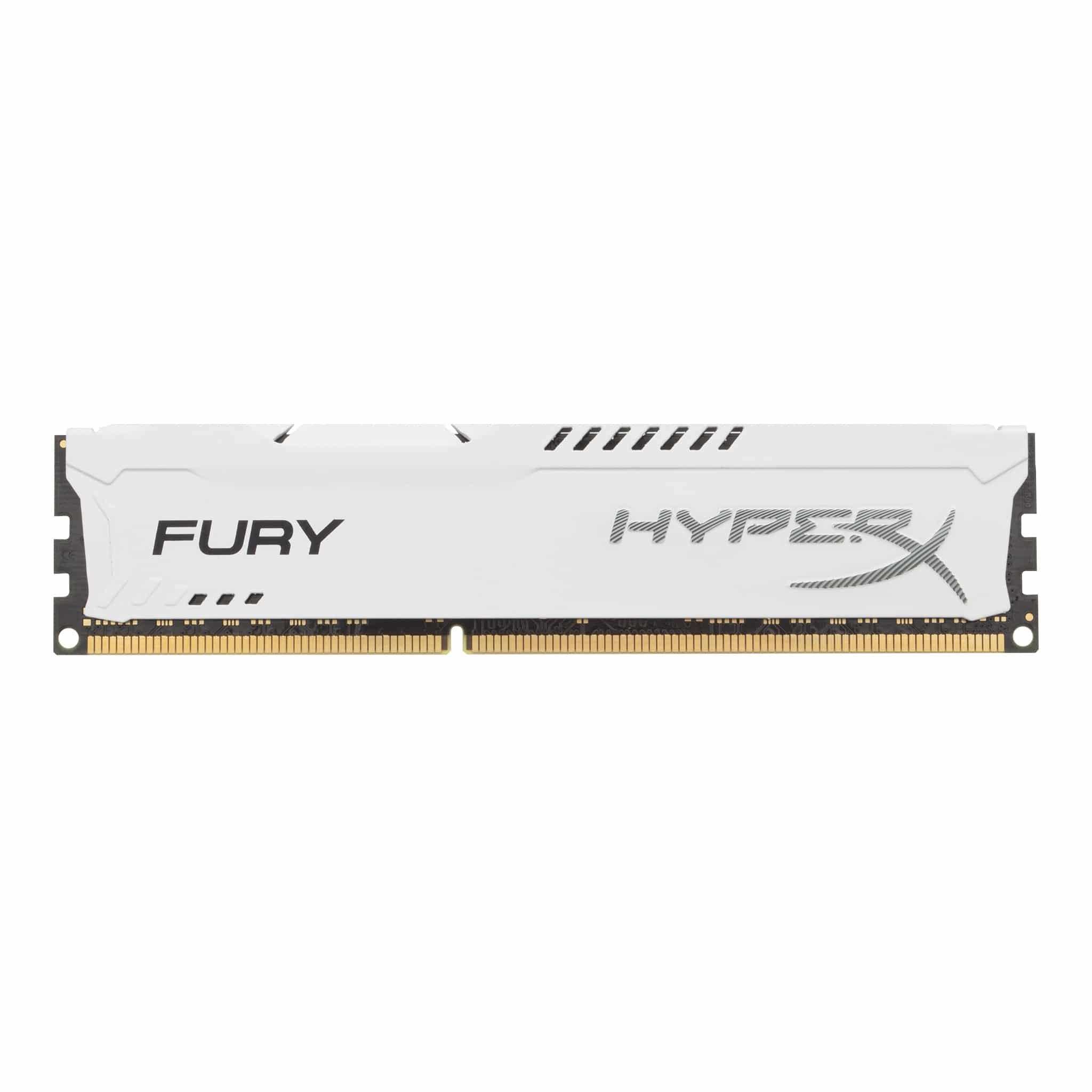 Kingston HyperX Fury 4GB (1x4GB) 1600MHz CL10 1.5V 240Pin White Desktop Memory