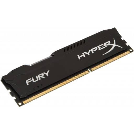 Kingston HyperX Fury 4GB (1x4GB) DDR4-2400MHz CL15 1.2V Black Desktop Memory