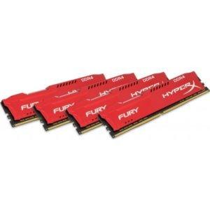 Kingston HX424C15FRK4/64 HyperX Fury 64GB (4x16GB) DDR4-2400MHz CL15 1.2V Red Desktop Memory