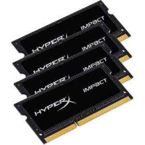 Kingston HX421S14IBK4/64 HyperX Impact 64GB (4x16GB) DDR4-2133MHz CL14 1.2V Black Notebook Memory