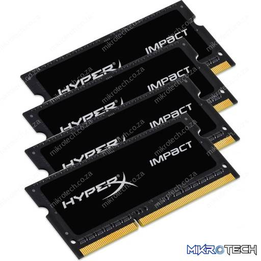 Kingston HyperX Impact 64GB (4x16GB) DDR4-2133MHz CL14 1.2V Black Notebook Memory