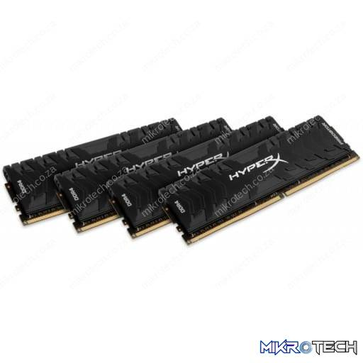 Kingston HX436C17PB3K4/64 HyperX Predator 64GB (4x16GB) DDR4-3600MHz CL17 1.35V Black Desktop Memory