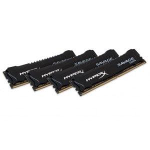 Kingston HX424C14SBK4/64 HyperX Savage 64GB (4x16GB) DDR4 2400MHz CL14 1.2V Black Desktop Memory
