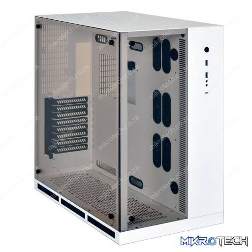 Lian-Li PC-011WW White Mid Tower Tempered Glass Desktop Chassis