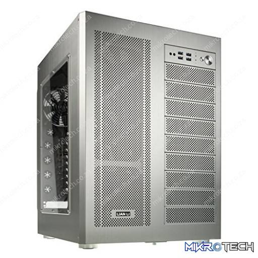Lian-Li PC-D600WS Windowed Silver Aluminium E-ATX Full Tower Server Chassis
