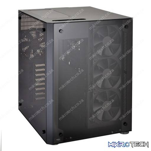 Lian-Li PC-O8WL Blue + Black With Full-Sized Tempered Glass Side Panel RGB Colour Changing E-ATX Chassis