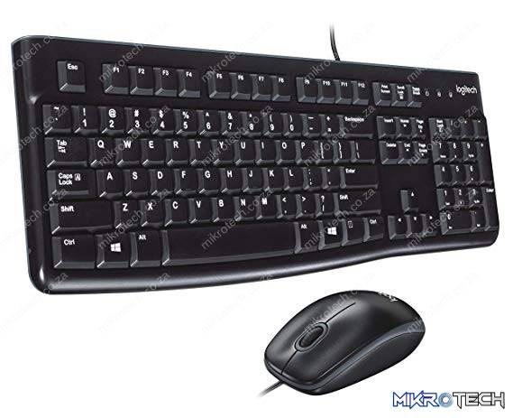 Logitech Desktop MK120, Black Keyboard and Mouse Combo