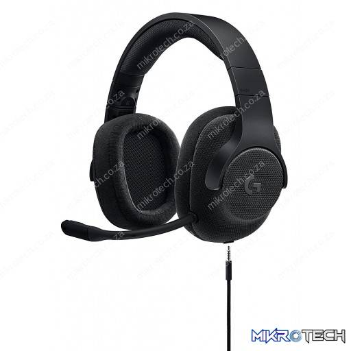 Logitech G433 Black DTS 7.1 Wired Surround Sound Gaming Headset