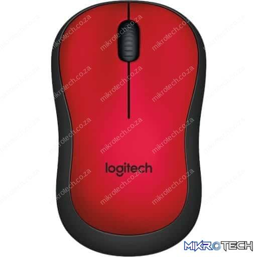 Logitech 910-004880 M220 Silent Red Wireless Optical Mouse