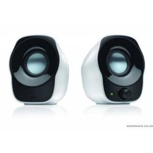 Logitech 980-000513 Z120 2.0 Channel 1.2w Black and White USB Powered Speakers