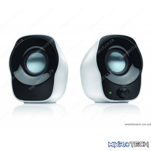 Logitech Z120 2.0 Channel 1.2w Black and White USB Powered Speakers