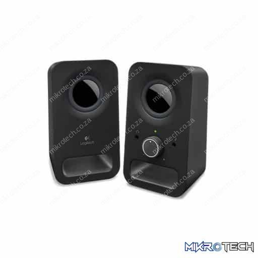Logitech Z150 2.0 Black Desktop Speakers with Headphone Jack and Volume Control