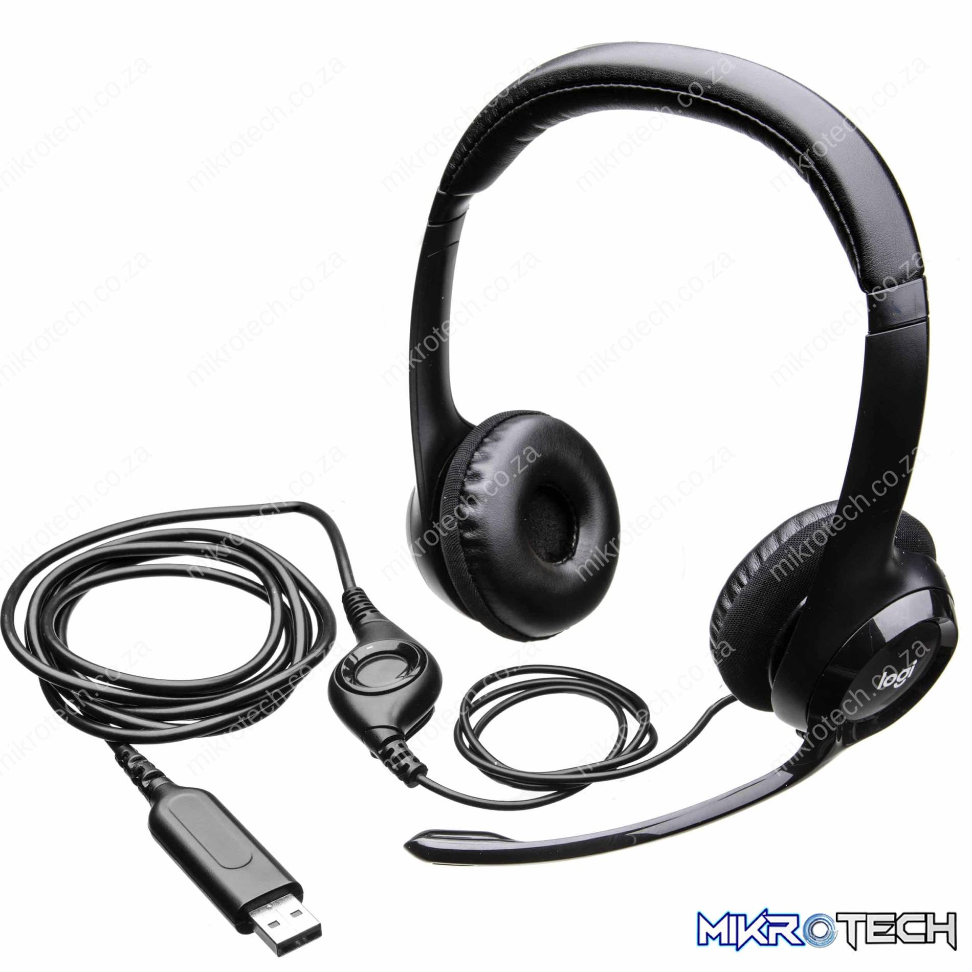 Logitech H390 USB Headset - Noise Cancelling Microphone, Digital Audio, In Line Volume Control