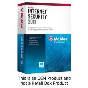 MCAFEE INTERNET SECURITY 2013 1 USR OEM