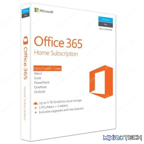 MS OFFICE 365 HOME - MEDIALESS - 1YR