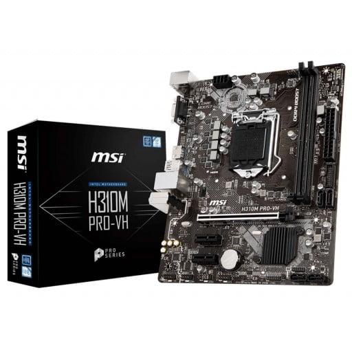 MSI H310M PRO-VH Intel H310 Coffee Lake LGA1151 Micro-ATX Desktop Motherboard