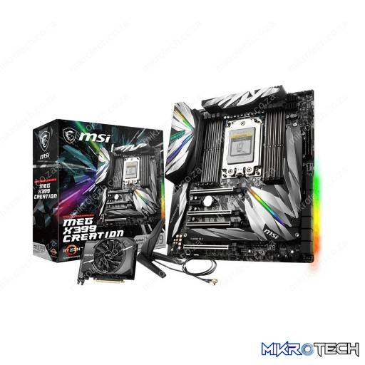 MSI MEG X399 CREATION AMD TR4 Ryzen Socket X399 E-ATX Desktop Motherboard