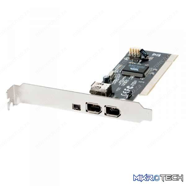 PCI: 3 FIREWIRE (2  STD + 1 MINI)