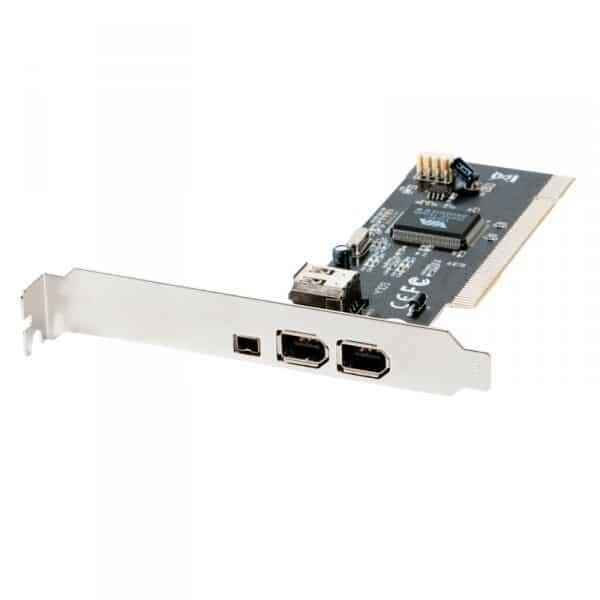 PCI: 3 FIREWIRE (2  STD + 1 MINI)