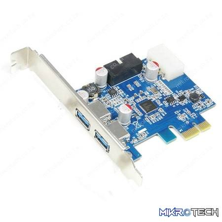 PCI-E 2 USB3 PORT WITH INTERNAL HEADER