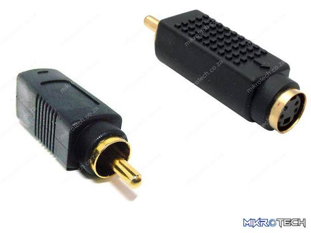 RCA: S-VIDEO FEMALE TO RCA MALE Adapter