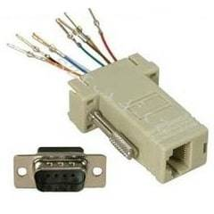 RS232 9PIN MALE SERIAL TO RJ45 CONVERT
