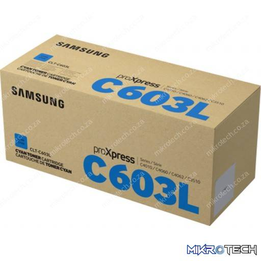 Samsung CLT-C603L High Yield Cyan Laser Toner Cartridge