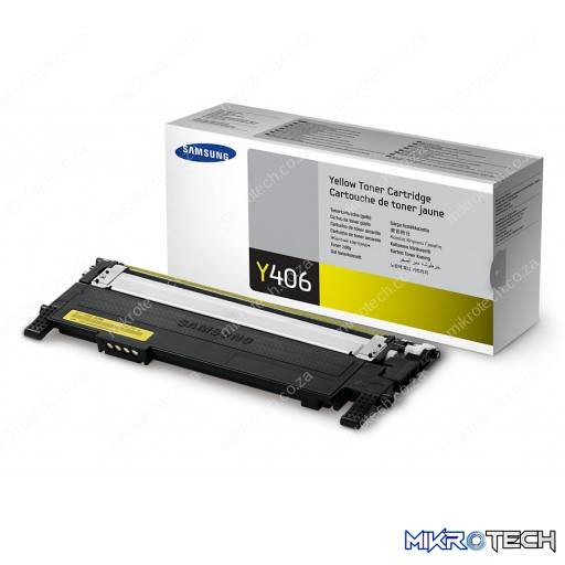 Samsung CLT-Y406S Standard Yield Yellow Toner Cartridge