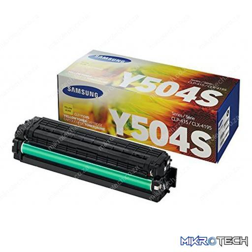Samsung CLT-Y504S Standard Yield Yellow Toner Cartridge