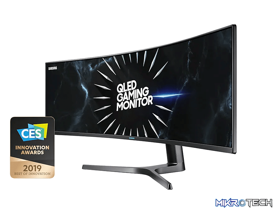 """Samsung CRG90 49"""" High Resolution Curved Gaming Monitor with 120Hz Refresh Rate"""