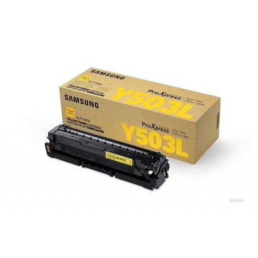 Samsung S-Print CLT-Y503L Yellow High-Yield Toner Cartridge