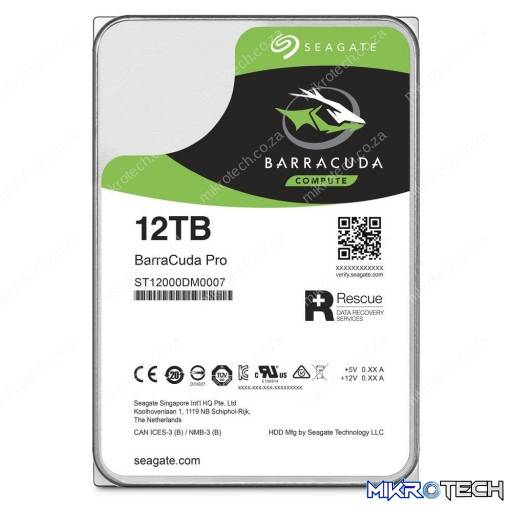 "Seagate Barracuda Pro 12TB 7200RPM SATA 6Gb/s 256MB Cache 3.5"" Internal Hard Drive"