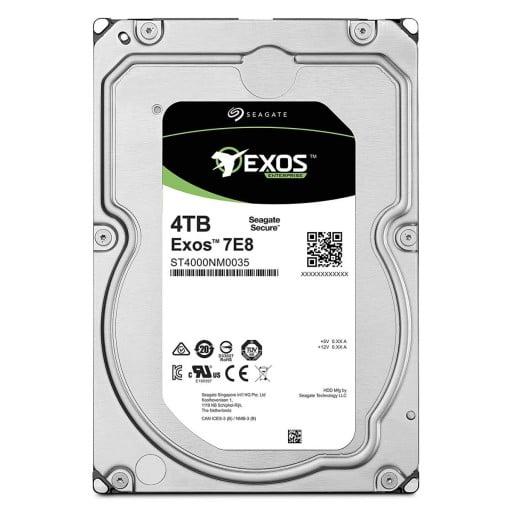 "Seagate ST4000NM0035 Enterprise Exos 7E8 4TB 7200RPM 128MB Cache 512N SATA 3.5"" Internal Hard Drive"