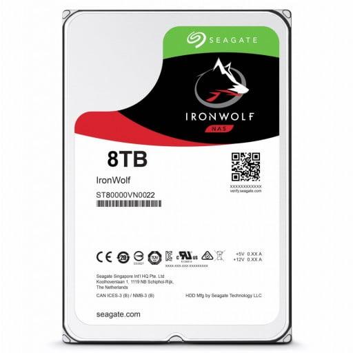 "Seagate ST8000VN0022 IronWolf 8TB 7200RPM 256MB Cache 3.5"" NAS Internal Hard Drive"