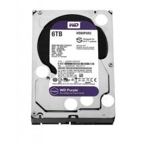 "Western Digital WD60PURZ WD Purple 6TB 5400RPM SATA 6Gb/s 64MB Cache 3.5"" Internal Hard Drive"