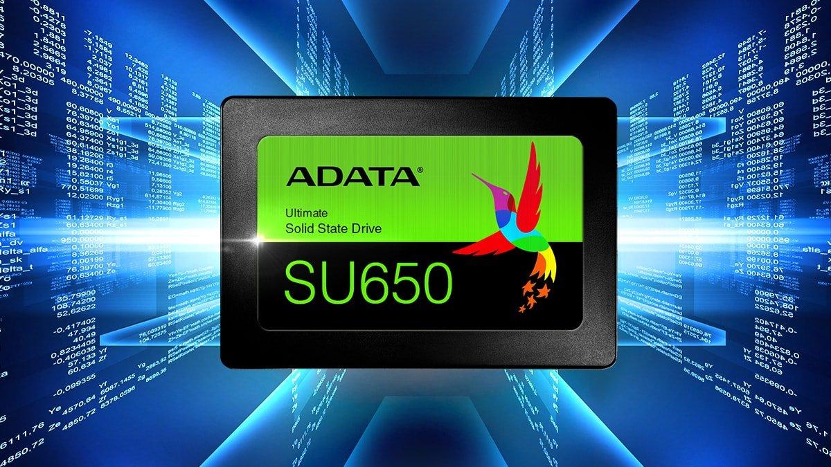 """Adata SU650 960GB 2.5"""" 3D NAND SATA 6Gb/s Solid State Drive"""
