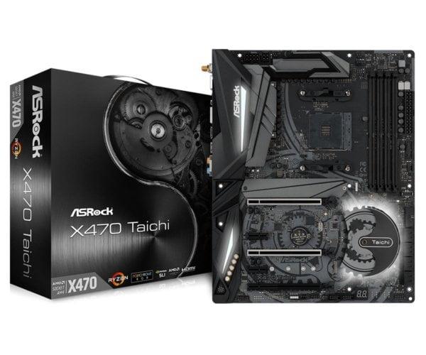 ASRock X470 Taichi AMD X470 Ryzen Socket AM4 ATX Desktop Motherboard