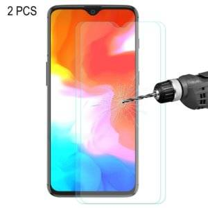2 PCS ENKAY Hat-prince 0.26mm 9H 2.5D Curved Edge Tempered Glass Film for OnePlus 6T