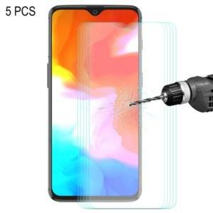 5 PCS ENKAY Hat-prince 0.26mm 9H 2.5D Curved Edge Tempered Glass Film for OnePlus 6T