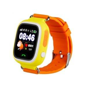 Q90 1.22 inch IPS Color Touch Screen Lovely Children Smartwatch GPS Tracking Wifi Watch, Support SIM Card,Positioning Mode, Voice Call, Pedometer, Alarm Clock,Sleep Monitoring,SOS Emergency Telephone Dialing(Orange)