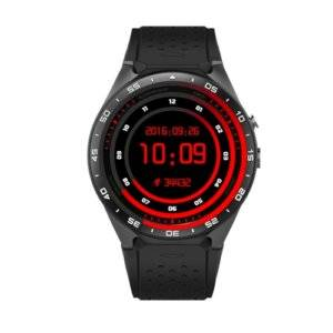 KW88 1.39 inch AMOLED Screen Bluetooth 4.0 Android 5.1 OS MTK6580 Quad Core 1.3GHz Waterproof Smart Bracelet Watch Phone with Heart Rate Monitor & Pedometer & Custom Watch Interface & Nano SIM Card Slot & Remote Camera & Anti-lost Function, RAM: 512MB, ROM: 4GB(Tarnish)