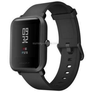 Original International Edition Xiaomi Amazfit Bip Lite Version Ultra-light 1.28 inch Screen Display IP68 Waterproof Smart Watch Youth Edition, Support GPS + GLONASS Compass & Heart Rate Monitor & Motion(Black)