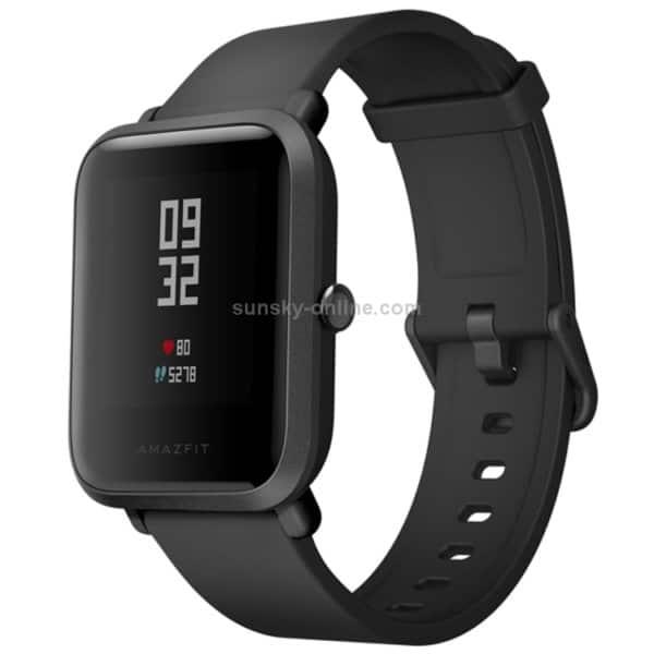 Original International Edition Xiaomi Amazfit Bip Lite Version Ultra-light 1.28 inch Screen Display IP68 Waterproof Smart Watch Youth Edition, Support GPS + GLONASS Compass & Heart Rate Monitor & Motion(Black)