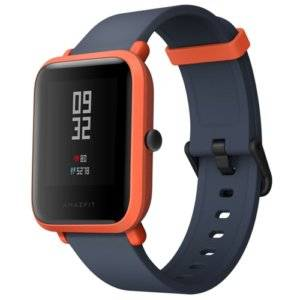 Original International Edition Xiaomi Amazfit Bip Lite Version Ultra-light 1.28 inch Screen Display IP68 Waterproof Smart Watch Youth Edition, Support GPS + GLONASS Compass & Heart Rate Monitor & Motion(Orange)