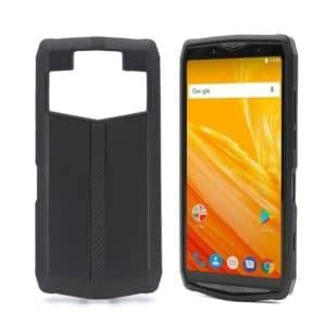 Denim Texture TPU Protective Leather Case for Ulefone Power 5 (Black)