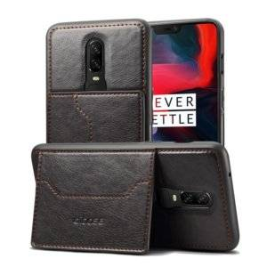Dibase TPU + PC + PU Crazy Horse Texture Leather Case for OnePlus 6