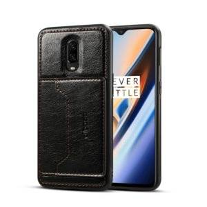 Dibase TPU + PC + PU Crazy Horse Texture Protective Case for OnePlus 6T